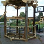 The structure built by David Braun - awaiting transport to Grand Rapids for painting and finishing